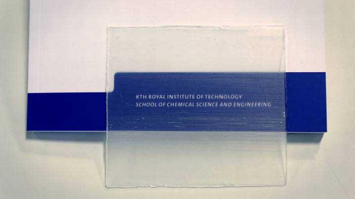 Bois transparent créé par l'école KTH Royal Institute of Technology