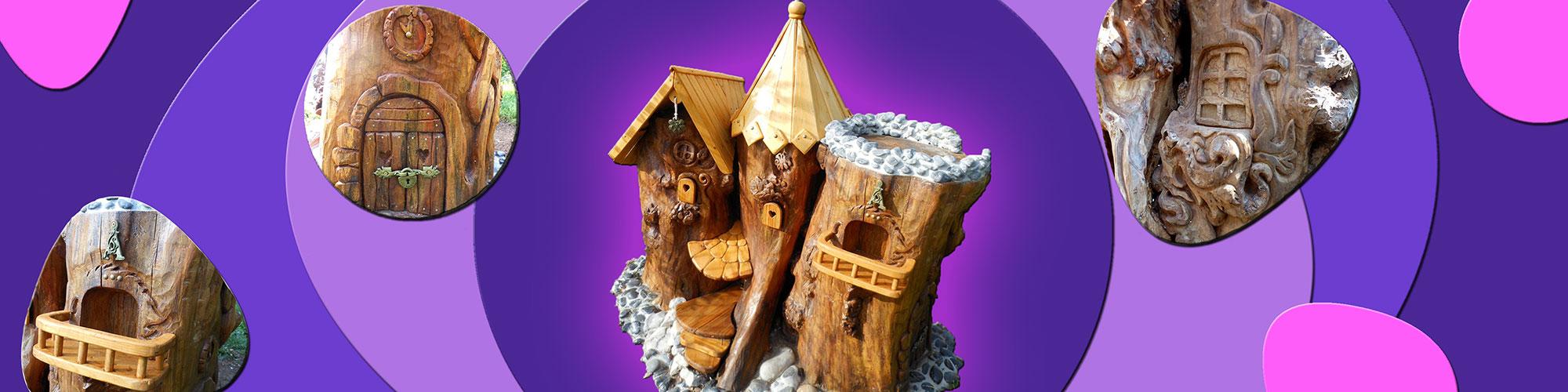 Château fabriqué à partir d'une souche de bois par Natacha - Bienvenue au pays des merveilles - Nos clients ont du talent